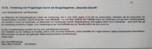 Screenshot aus dem Intranet des EvB